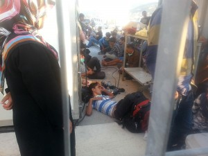 temporary detention in the port of Mytilene upon arrival / August 2014 / copyright: w2eu