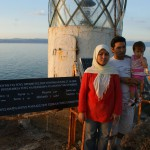 Picture of the family at the lighthouse in Korakas by Marily Stroux