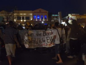 Noborder Protest in Mytilene. Photo: Marily Stroux